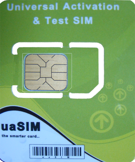 "uaSIM ""the smarter card.."""